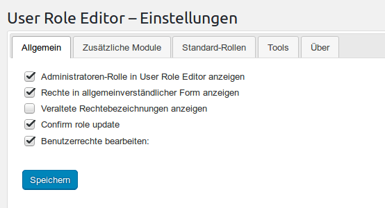 User Role Editor Plugin Vorschaubild