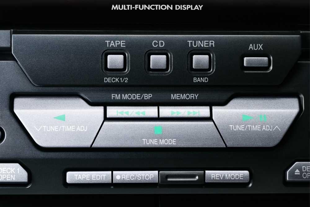 Großaufnahme Bedienfeld CD-Player