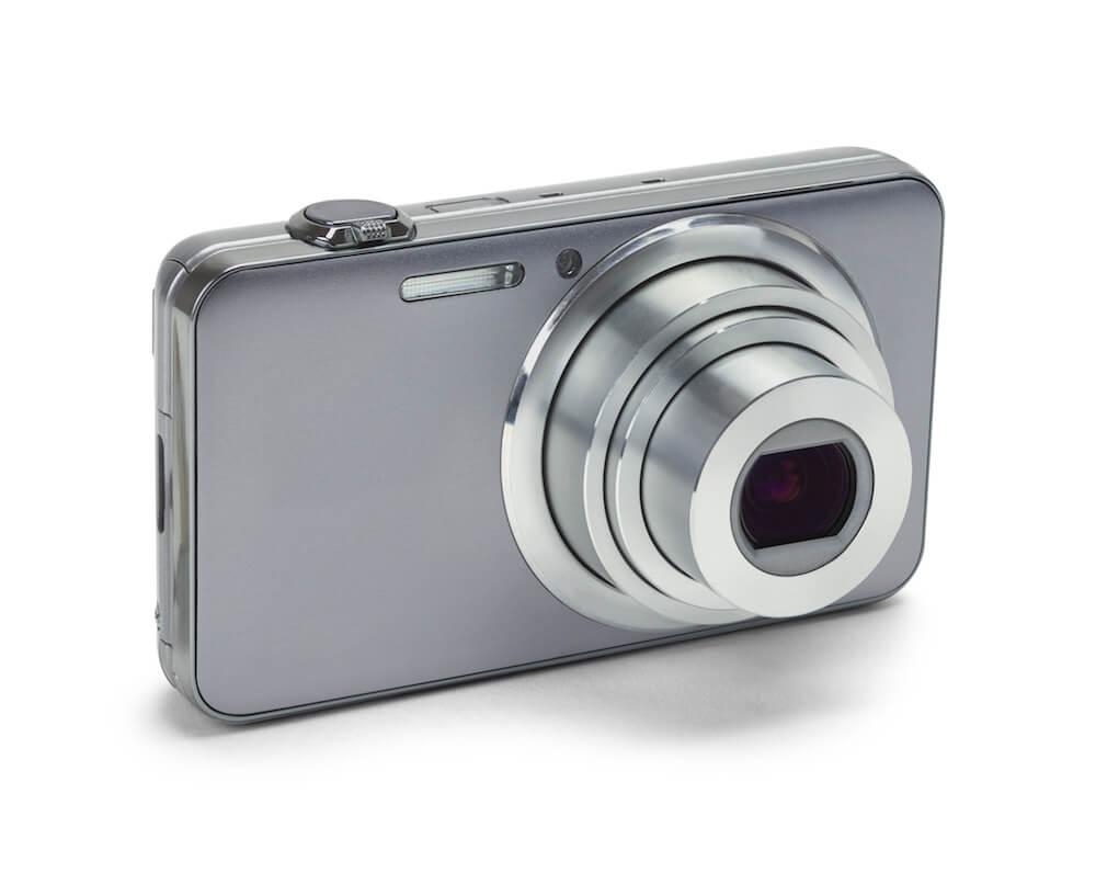Digital Kamera silber