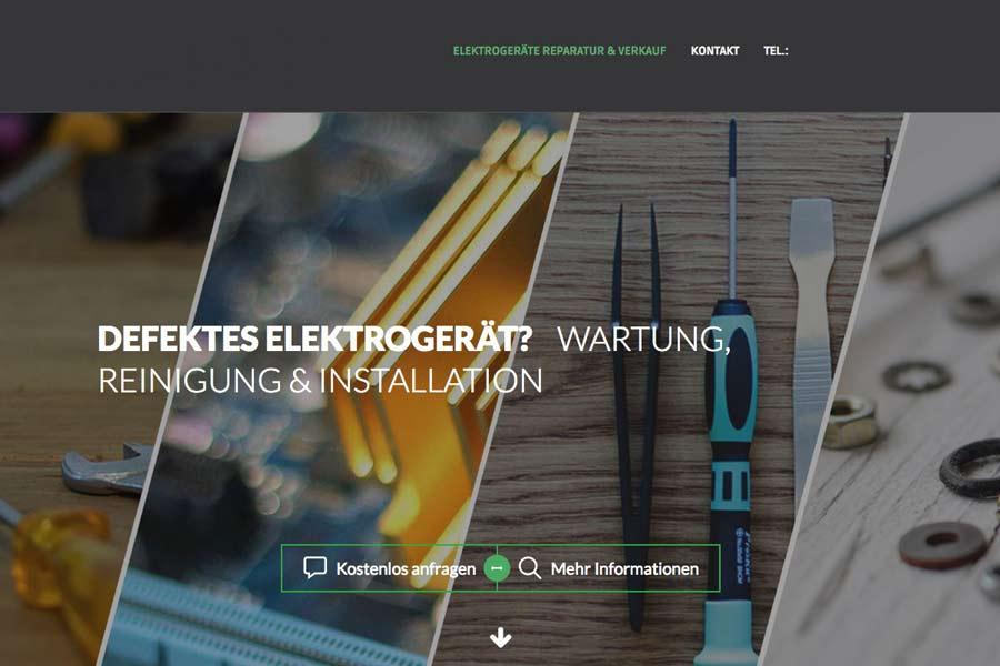 Beispiel eigene Firmenwebseite für Elektronik Fachhandel