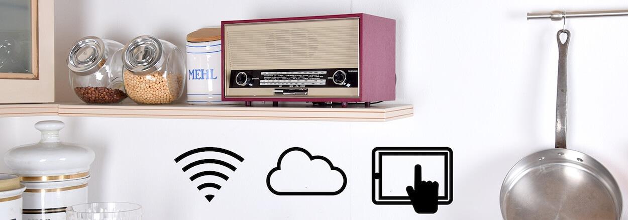 Küchenradio, kleines Röhrenradio,