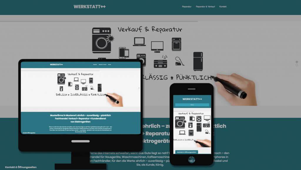Whiteboard Reparatur Demo Überblick