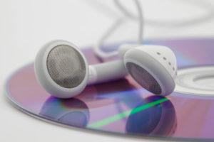 Kopfhörer auf CD