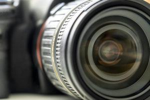 Objektiv von Spiegelreflexkamera