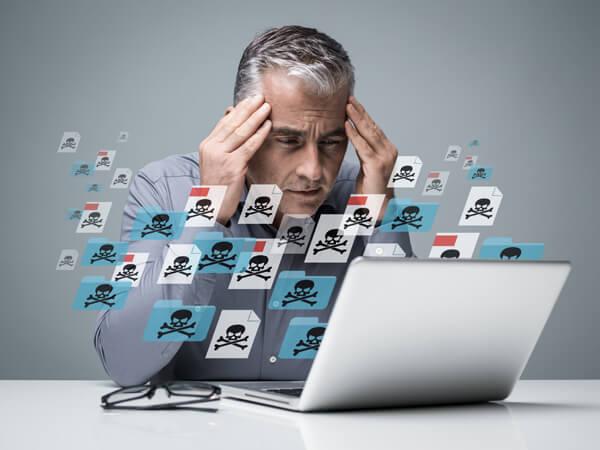 Virus auf dem Laptop